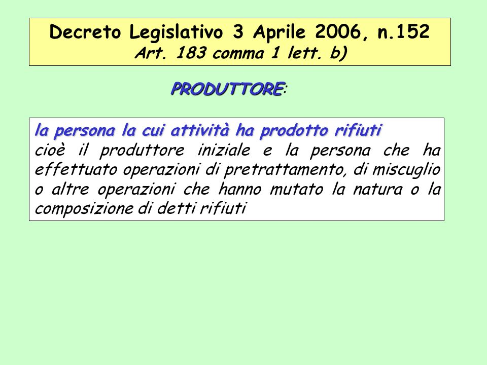 Decreto Legislativo 3 Aprile 2006, n.152