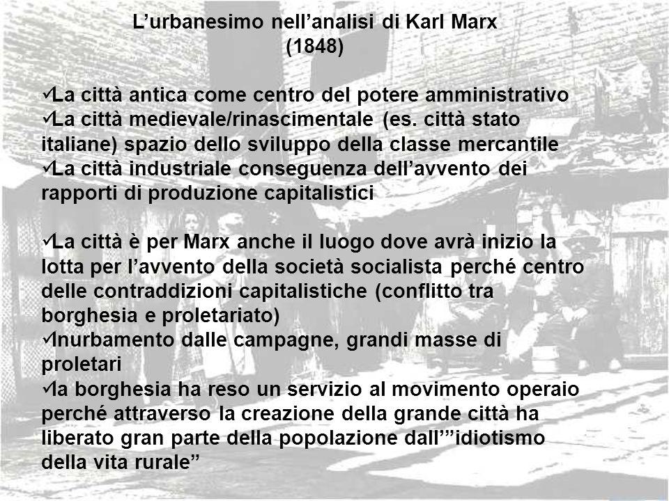 L'urbanesimo nell'analisi di Karl Marx