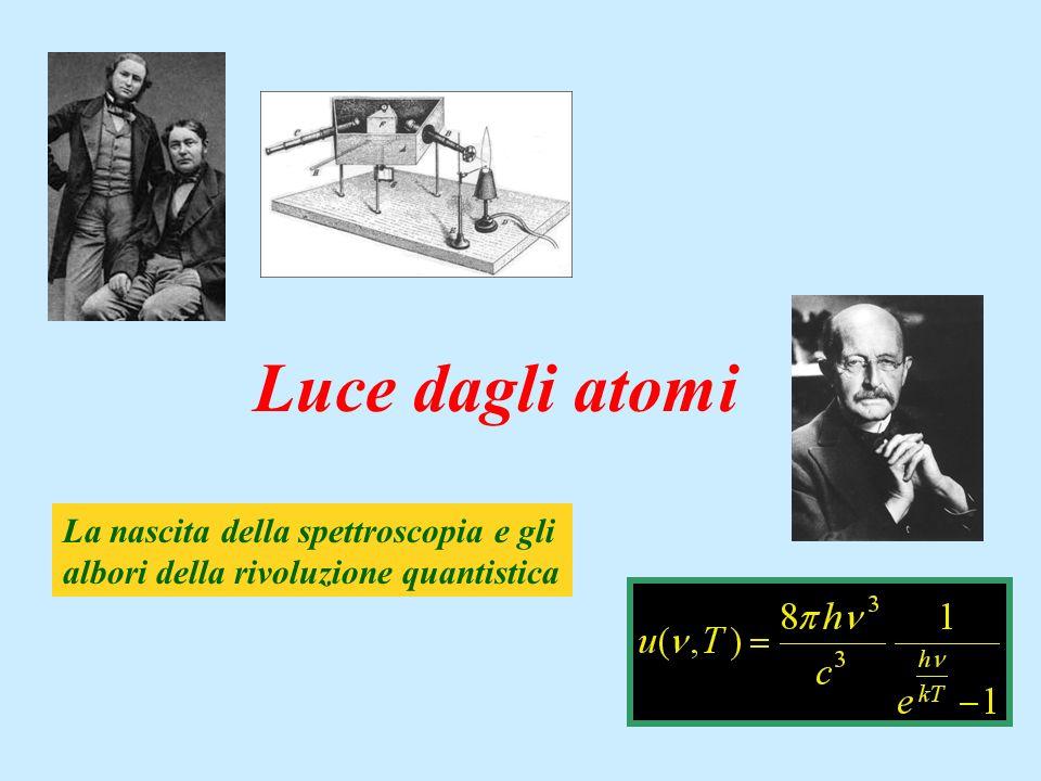 Luce dagli atomi La nascita della spettroscopia e gli albori della rivoluzione quantistica