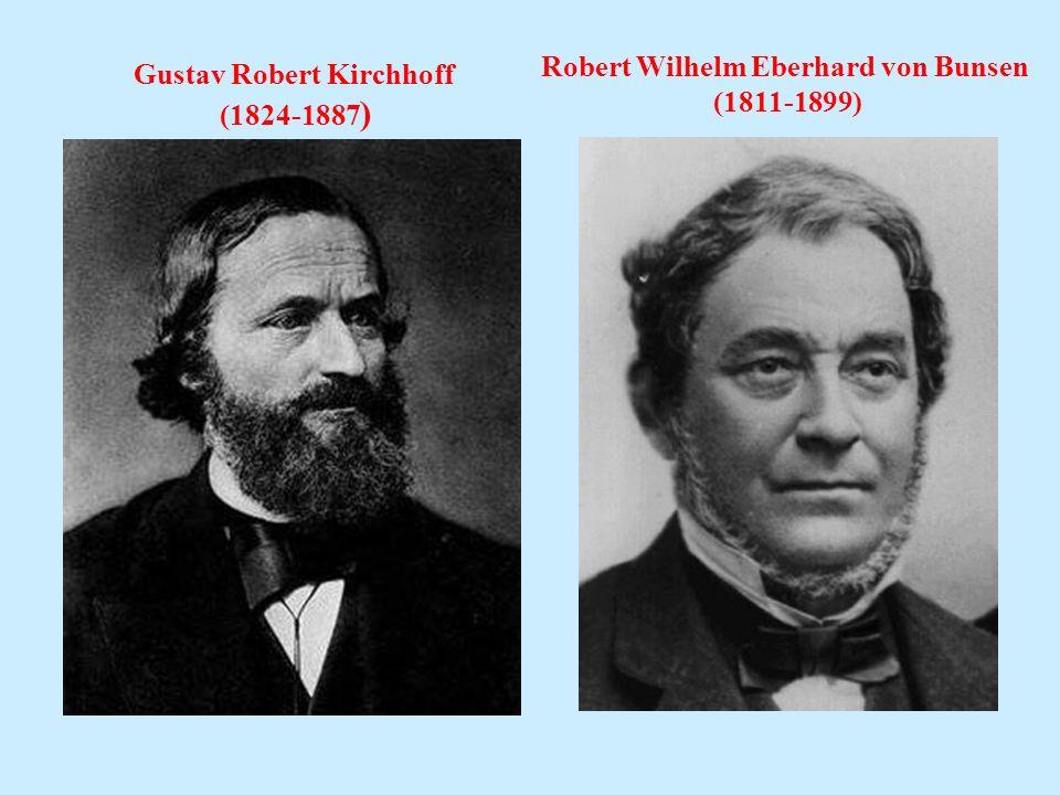 Robert Wilhelm Eberhard von Bunsen Gustav Robert Kirchhoff