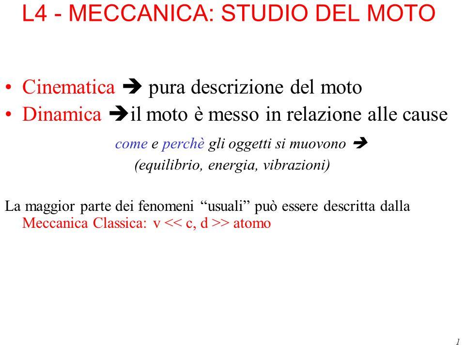 L4 - MECCANICA: STUDIO DEL MOTO
