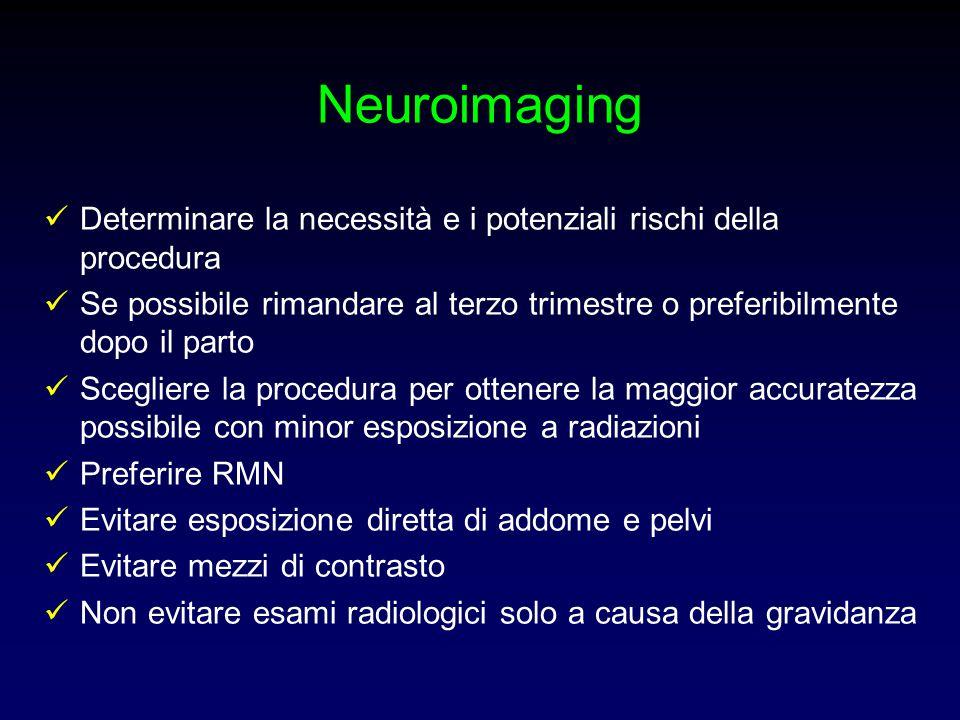 Neuroimaging Determinare la necessità e i potenziali rischi della procedura.