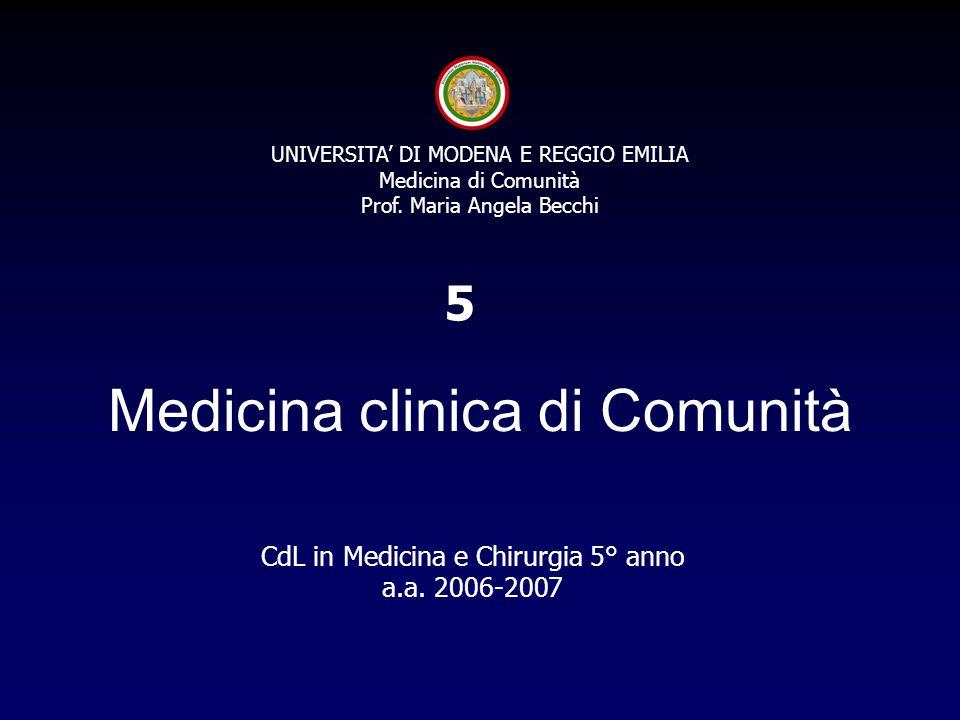 Medicina clinica di Comunità