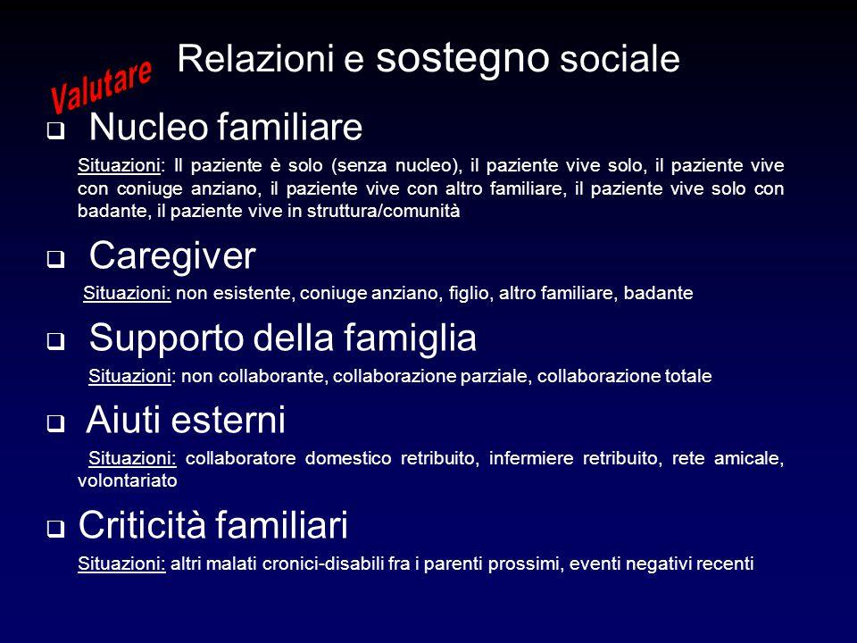 Relazioni e sostegno sociale