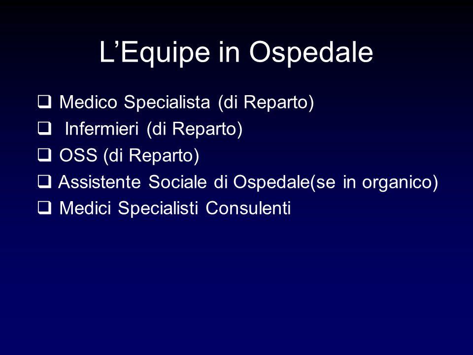 L'Equipe in Ospedale Medico Specialista (di Reparto)