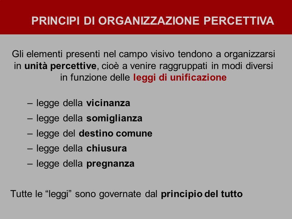Principi di Organizzazione percettiva