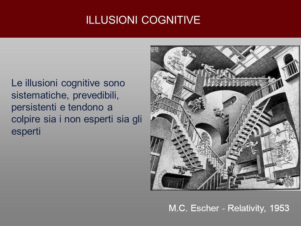 ILLUSIONI COGNITIVELe illusioni cognitive sono sistematiche, prevedibili, persistenti e tendono a colpire sia i non esperti sia gli esperti.