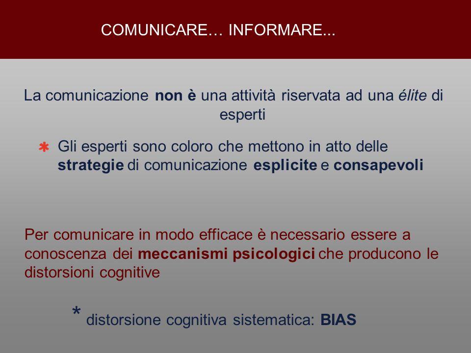 La comunicazione non è una attività riservata ad una élite di esperti