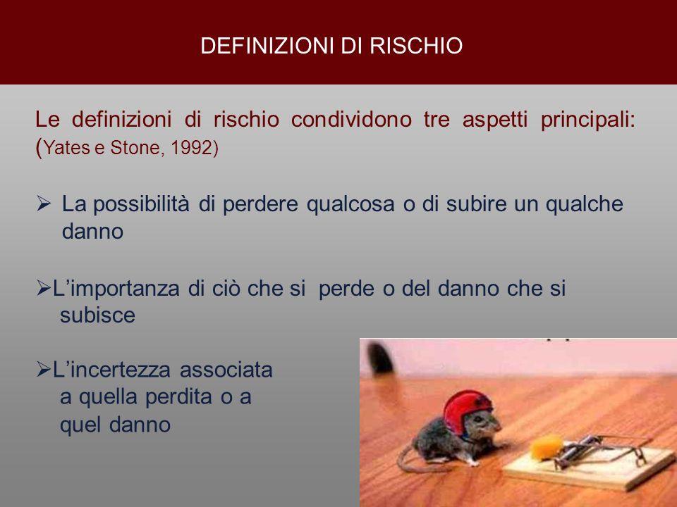 DEFINIZIONI DI RISCHIO