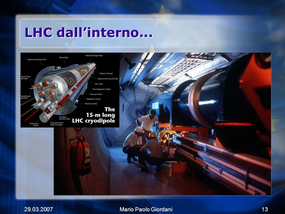 LHC dall'interno... 29.03.2007 Mario Paolo Giordani
