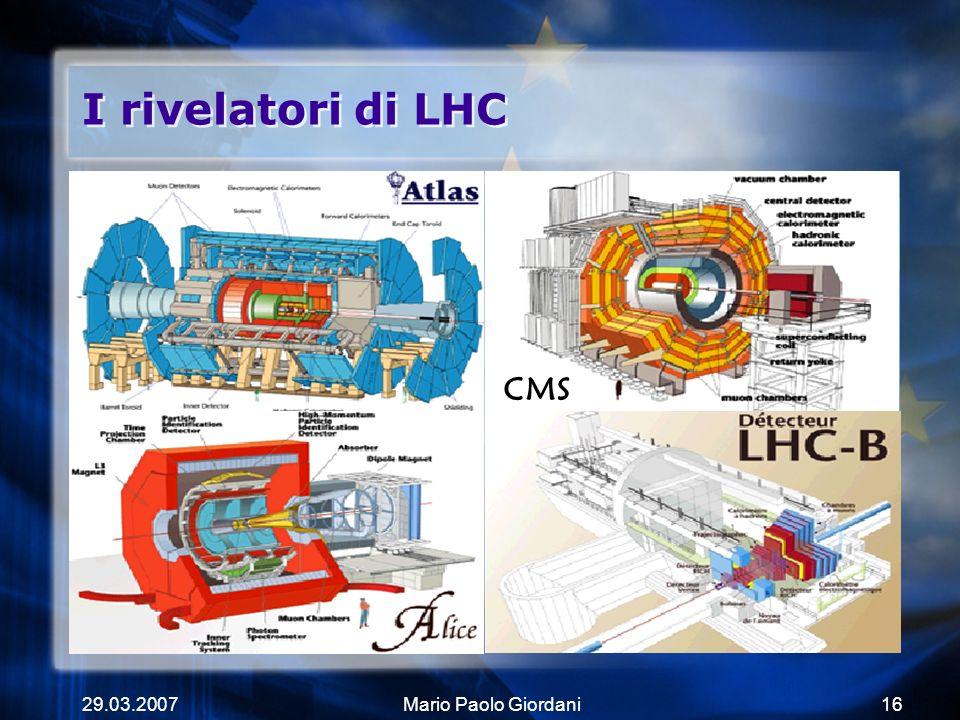 I rivelatori di LHC CMS 29.03.2007 Mario Paolo Giordani