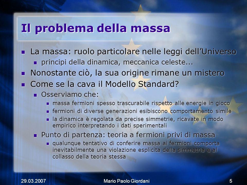 Il problema della massa