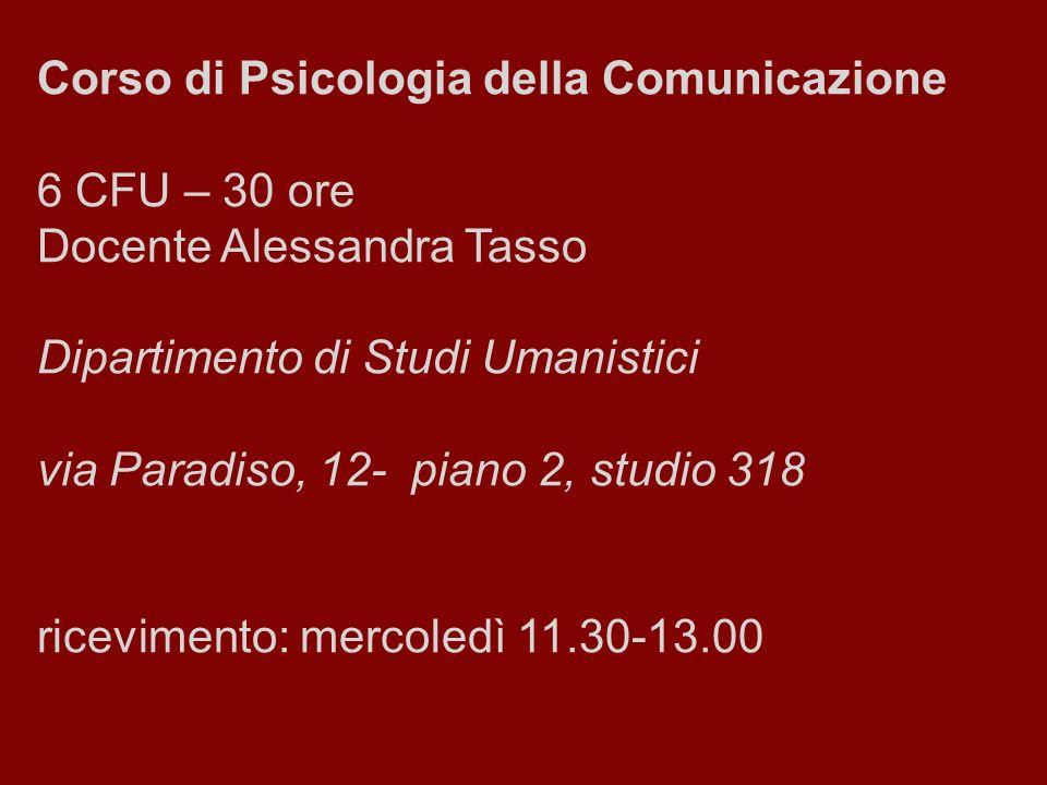 Corso di Psicologia della Comunicazione