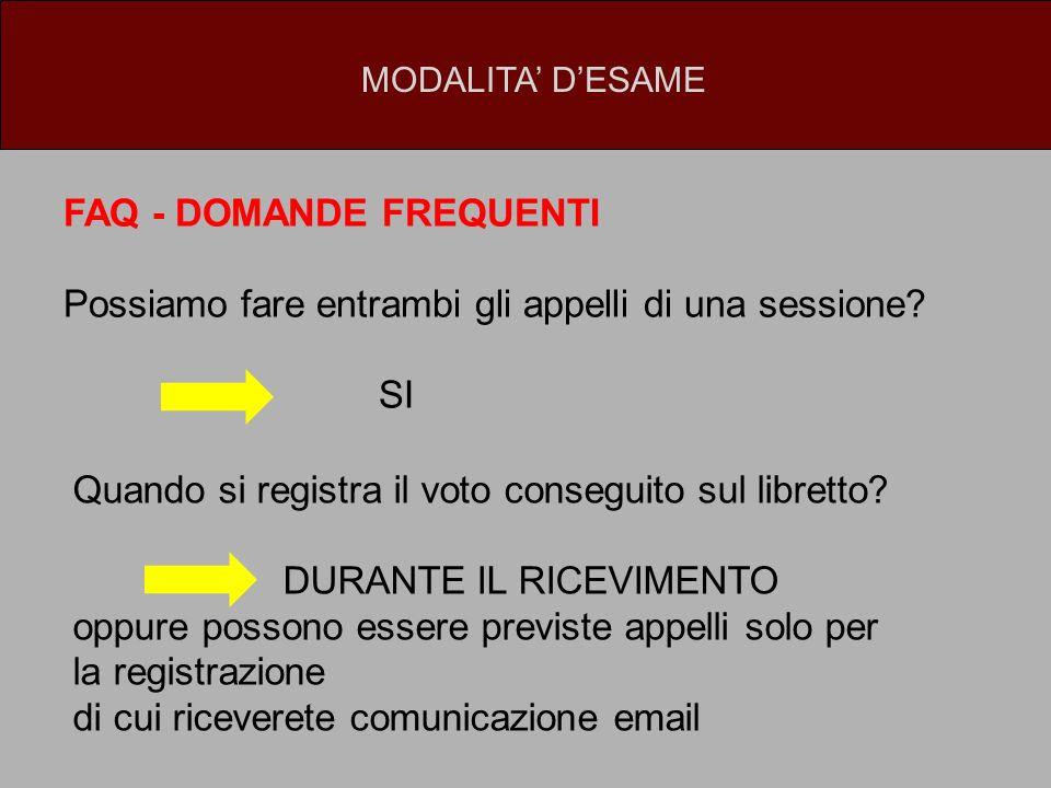 FAQ - DOMANDE FREQUENTI