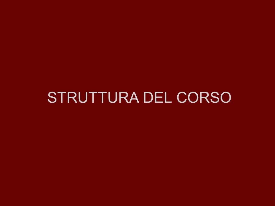 STRUTTURA DEL CORSO
