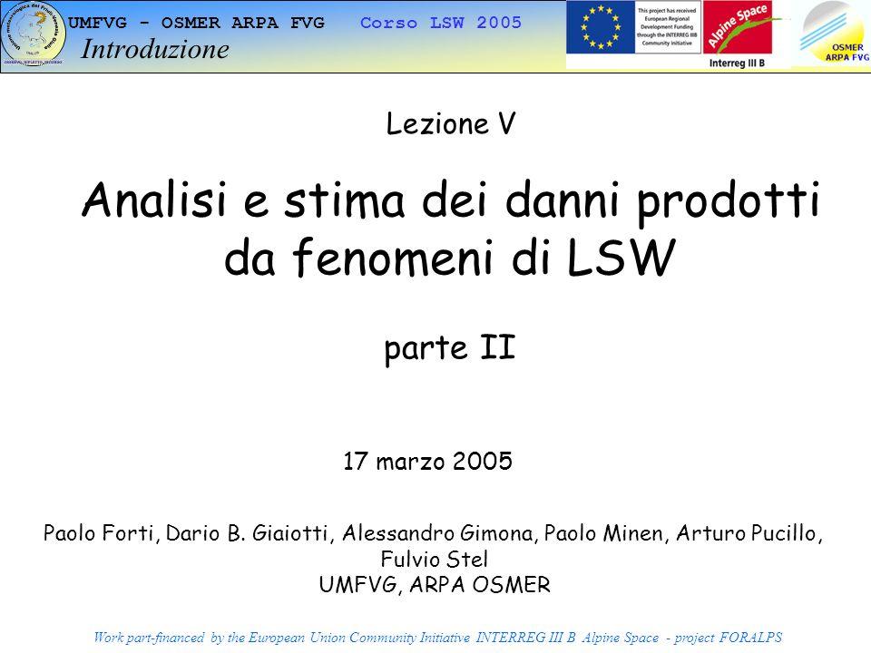 Analisi e stima dei danni prodotti da fenomeni di LSW