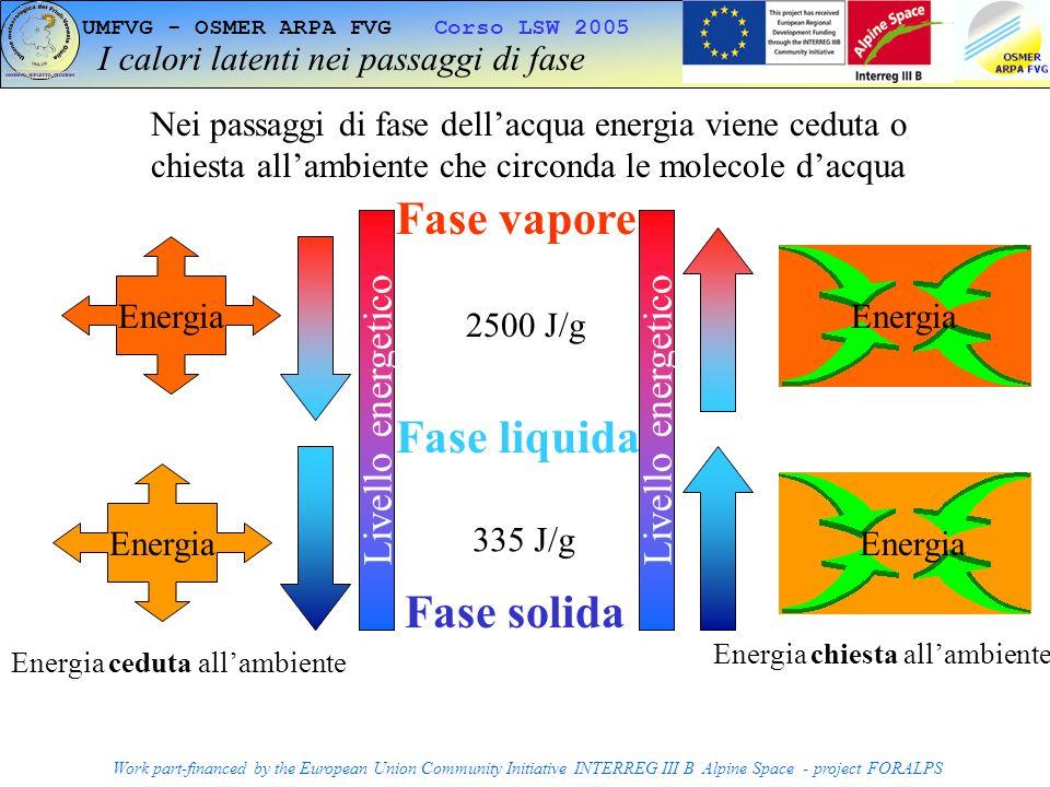 I calori latenti nei passaggi di fase