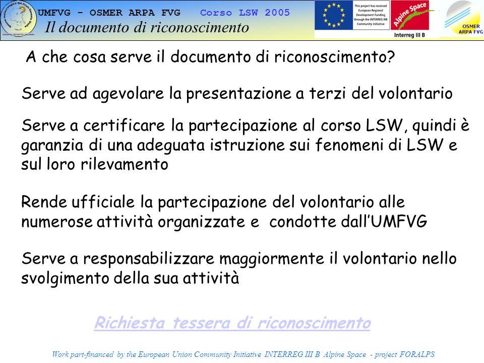 Il documento di riconoscimento