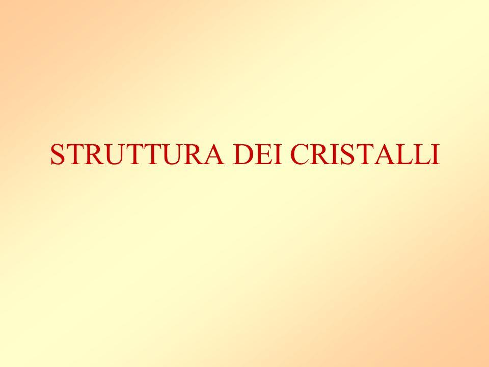 STRUTTURA DEI CRISTALLI