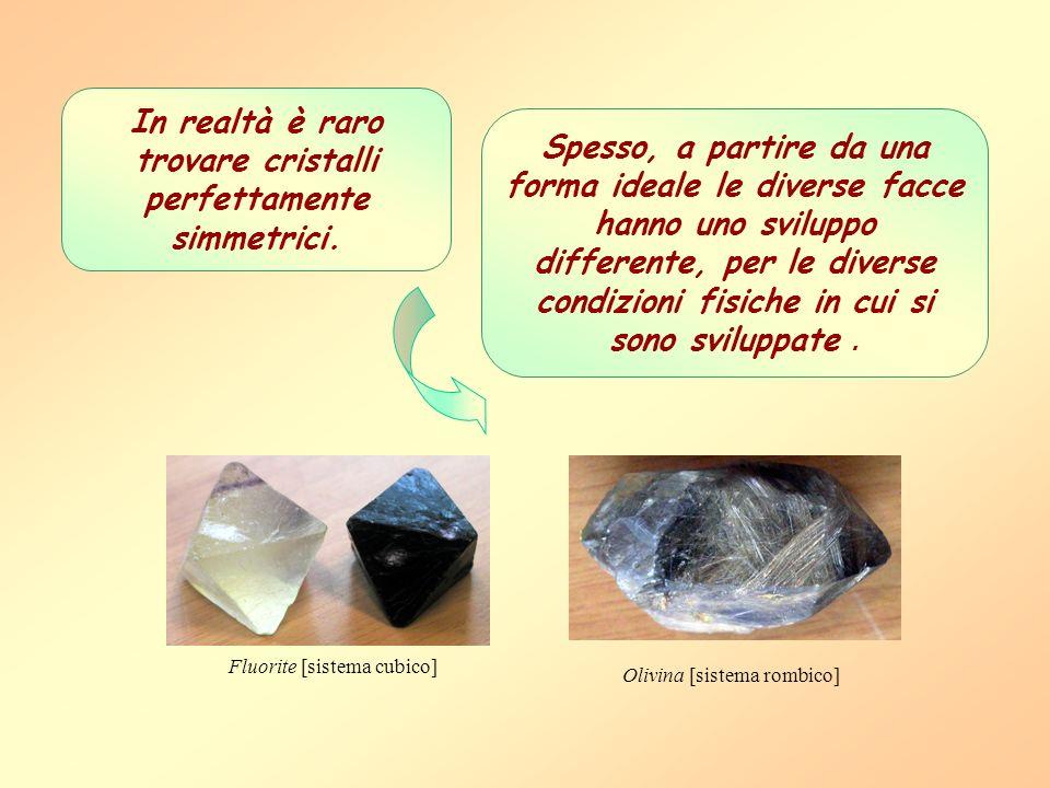 In realtà è raro trovare cristalli perfettamente simmetrici.