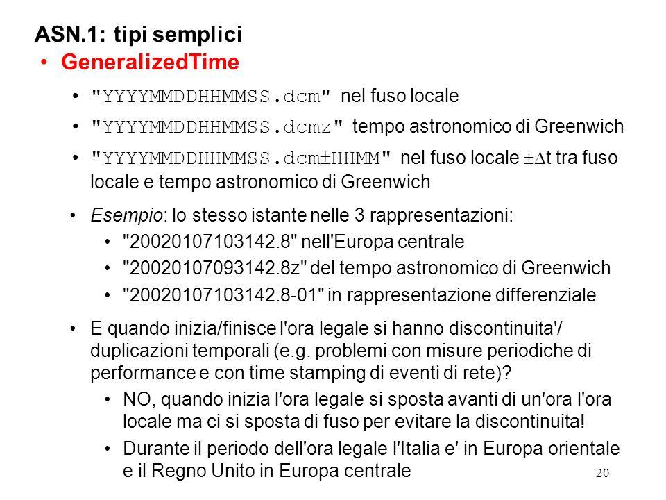 ASN.1: tipi semplici GeneralizedTime