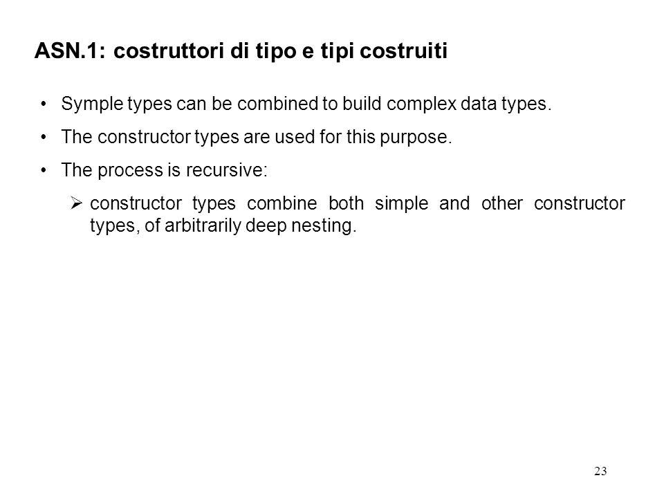 ASN.1: costruttori di tipo e tipi costruiti