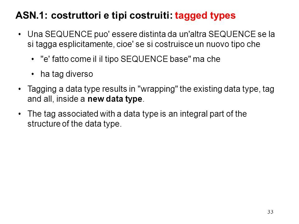 ASN.1: costruttori e tipi costruiti: tagged types