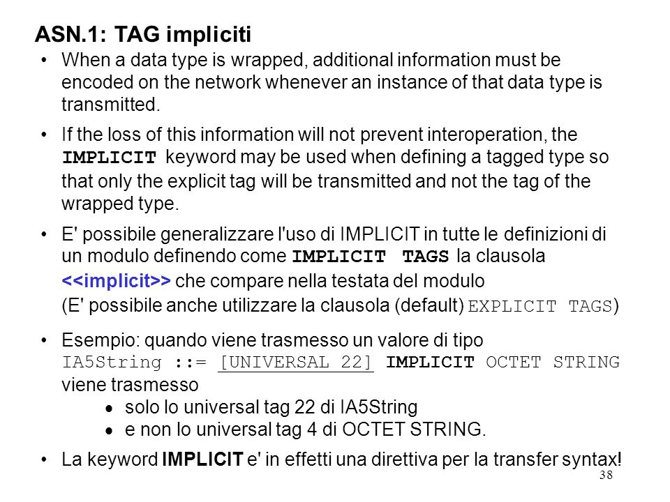 ASN.1: TAG impliciti