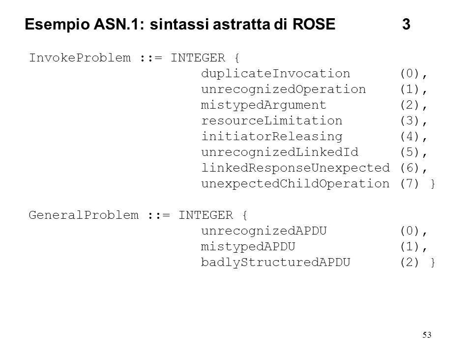 Esempio ASN.1: sintassi astratta di ROSE 3