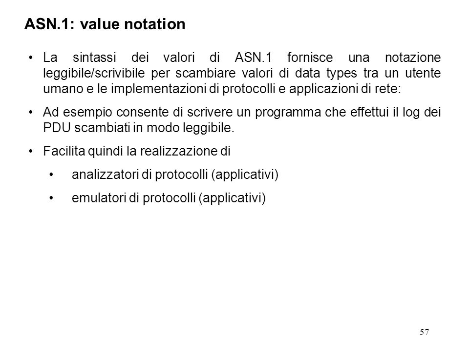 ASN.1: value notation