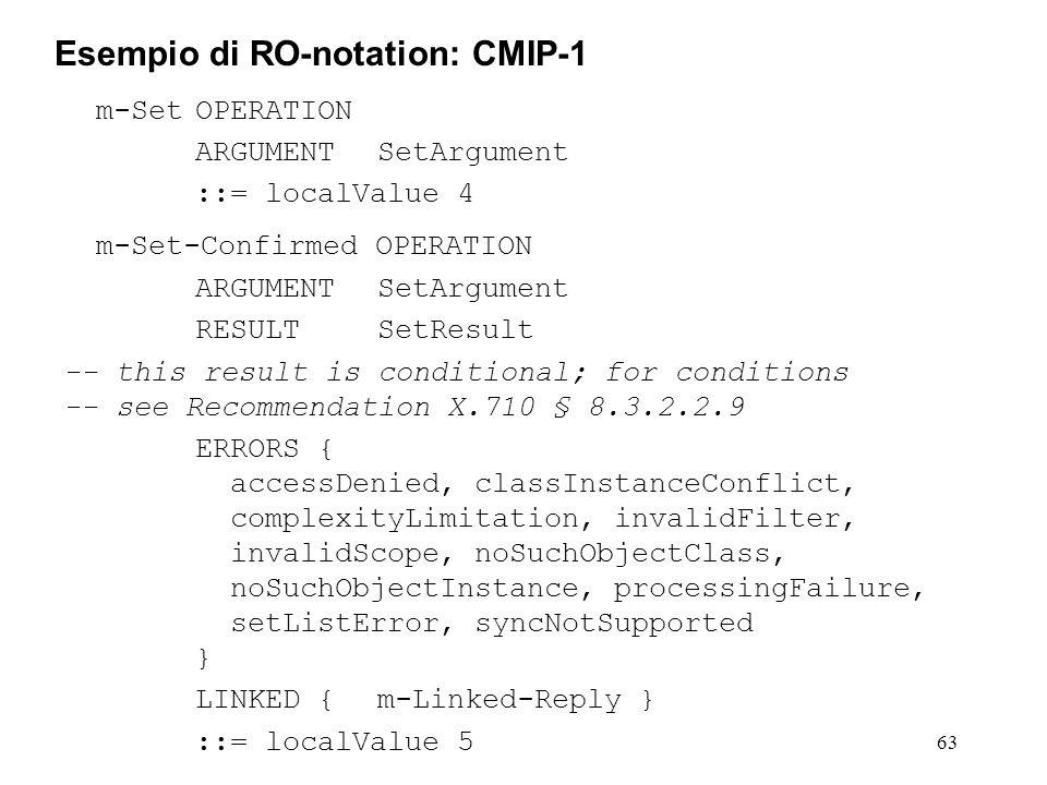 Esempio di RO-notation: CMIP-1