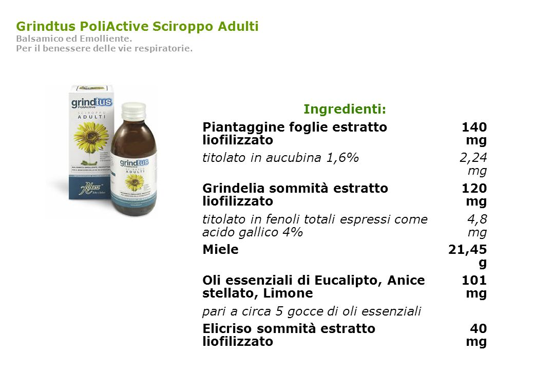 Grindtus PoliActive Sciroppo Adulti