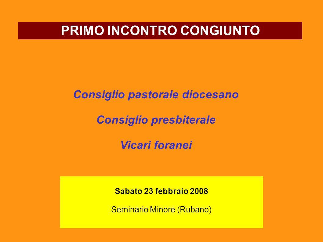 PRIMO INCONTRO CONGIUNTO