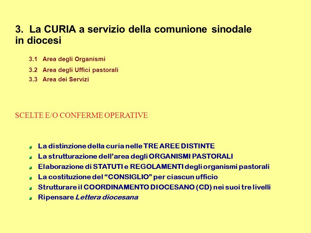 3. La CURIA a servizio della comunione sinodale in diocesi