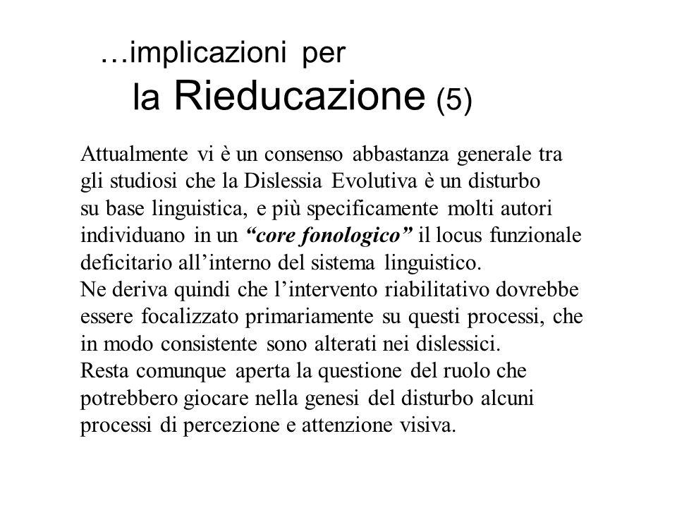 …implicazioni per la Rieducazione (5)