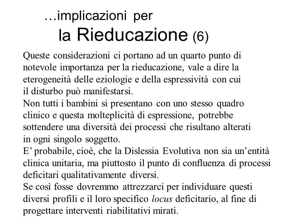 …implicazioni per la Rieducazione (6)