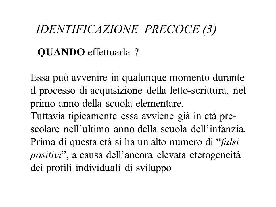 IDENTIFICAZIONE PRECOCE (3)