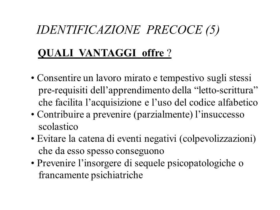 IDENTIFICAZIONE PRECOCE (5)