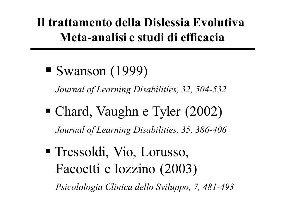 Swanson (1999) Journal of Learning Disabilities, 32, 504-532