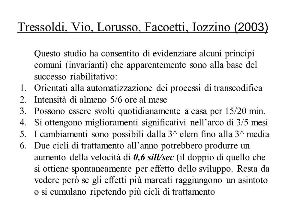 Tressoldi, Vio, Lorusso, Facoetti, Iozzino (2003)