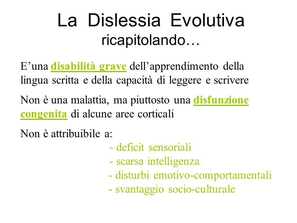 La Dislessia Evolutiva ricapitolando…