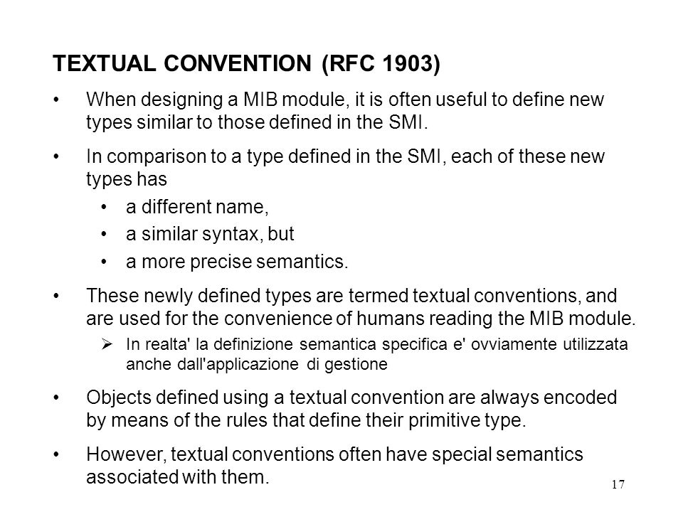 TEXTUAL CONVENTION (RFC 1903)