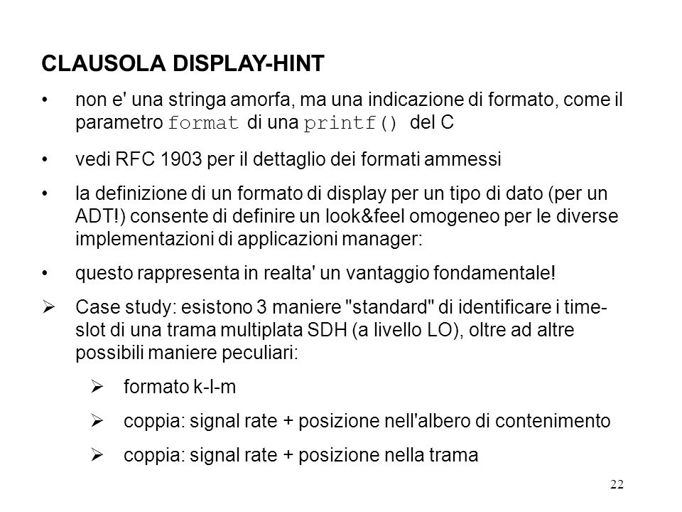 CLAUSOLA DISPLAY-HINT