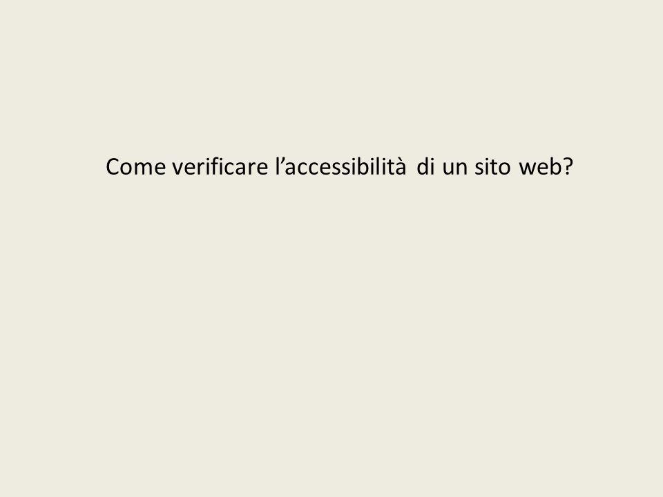 Come verificare l'accessibilità di un sito web