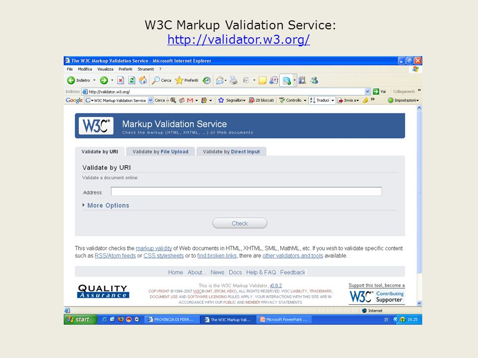 W3C Markup Validation Service: