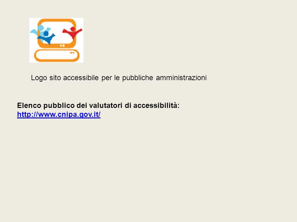Logo sito accessibile per le pubbliche amministrazioni