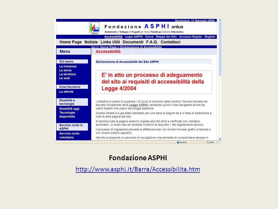 Fondazione ASPHI http://www.asphi.it/Barra/Accessibilita.htm