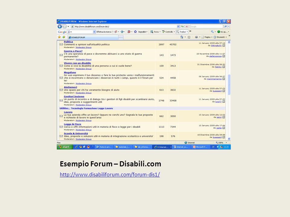 Esempio Forum – Disabili.com