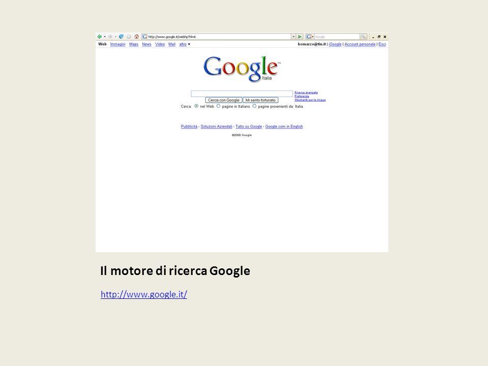 Il motore di ricerca Google