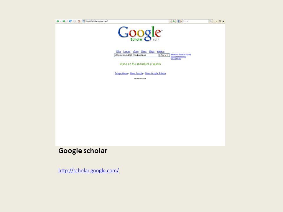Altri prodotti Google: in Google Labs troviamo Google scholar